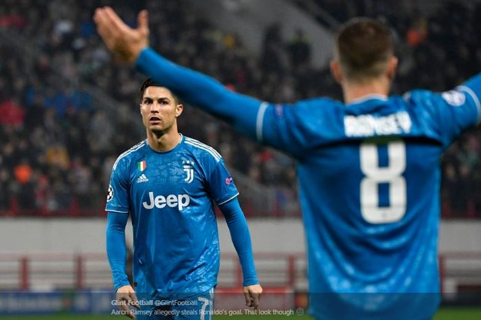 Megabintang Juventus, Cristiano Ronaldo, dalam laga Liga Champions melawan Lokomotiv Moskva, 7 November 2019.