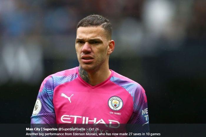 Kiper utama Manchester City, Ederson Moraes.