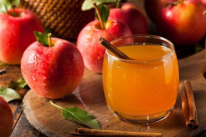 Ilustrasi cuka apel.