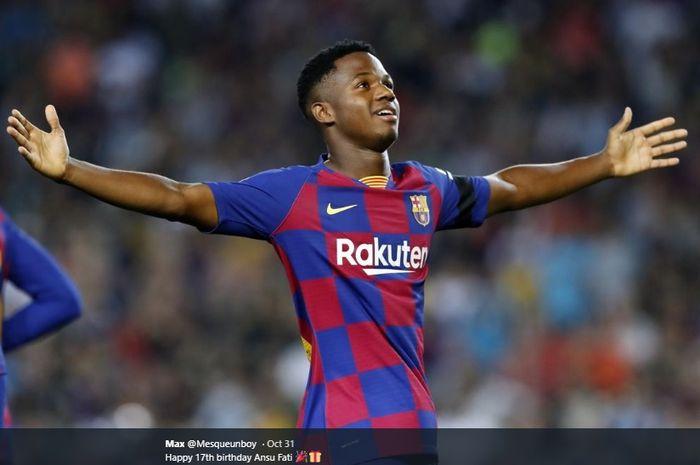 Pemain muda berbakat milik Barcelona, Ansu Fati.