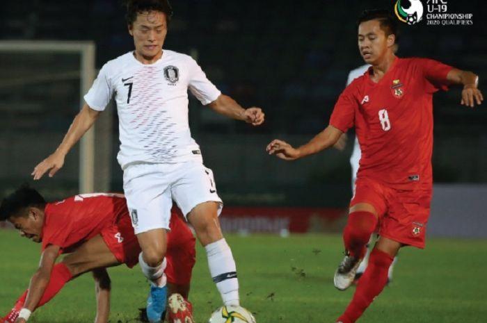 Korea Selatan U-19 berhasil menumbangkan Myanmar U-19 dalam Kualifikasi Piala Asia U-19 2020.