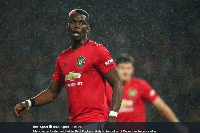 Gelandang tengah Manchester United asal Prancis, Paul Pogba.