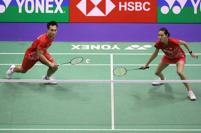 Pasangan ganda campuran Indonesia, Hafiz Faizal/Gloria Emanuelle Widjaja, tampil pada babak pertama Hong Kong Open 2019 di Hong Kong Coliseum, Selasa (12/11/2019).