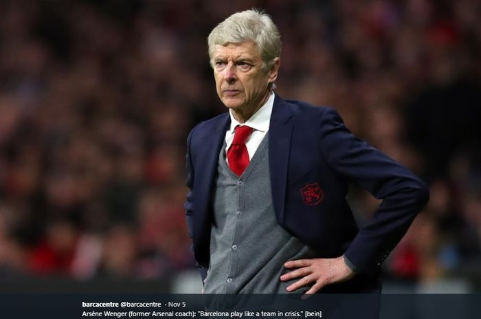 Eks pelatih Arsenal, Arsene Wenger.