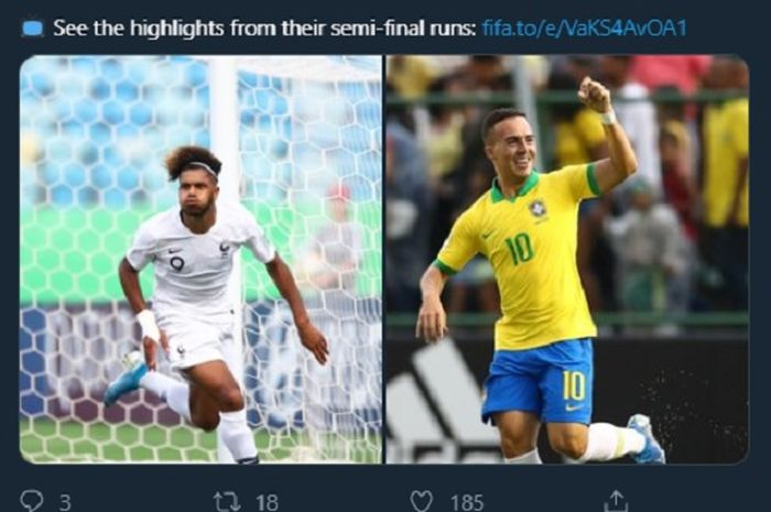 Calon bintang masa depan sepak bola akan bertanding pada Piala Dunia U-17 2019 Brasil. Etienne Youte Kinkoué (kiri) dan Peglow (kanan).