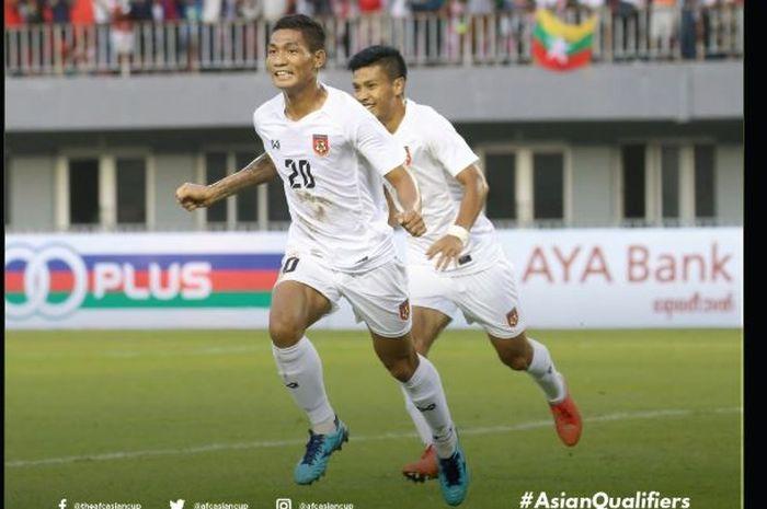 Pemain Myanmar mengalahkan Tajikistan dalam kualifikasi Piala Dunia 2022.