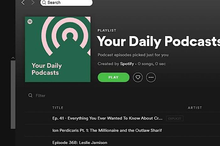 Spotify Rilis 'Your Daily Podcast', Kurasi Podcast Favorit Personal