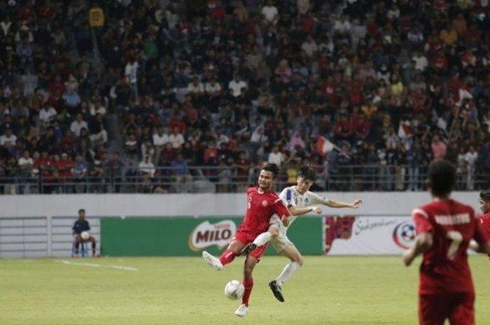 Timnas Pelajar U-18 Indonesia vs Korea Selatan.