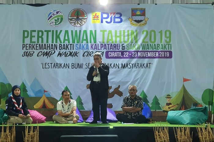 Peserta kegiatan Perkemahan Bakti Saka Kalpataru dan Saka Wanabakti (PERTIKAWAN) tingkat Nasional tahun 2019