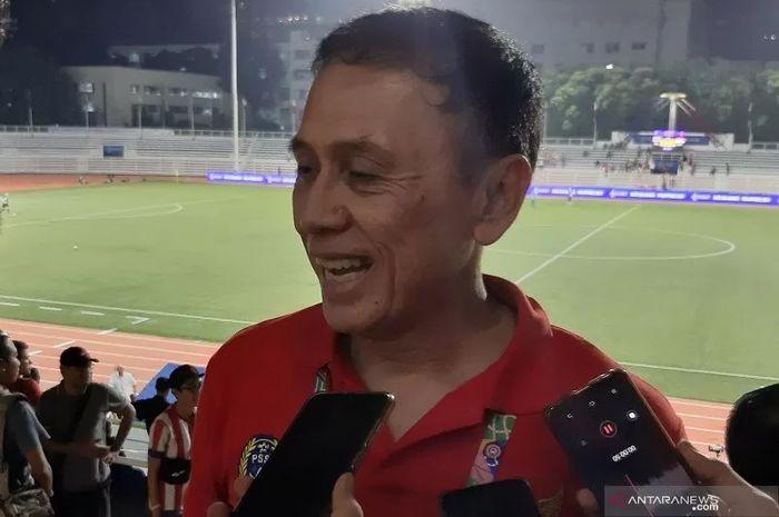 Ketua Umum PSSI, Mochamad Iriawan, saat ditemui di Stadion Rizal Memorial, Manila, Filipina pada Selasa (26/11/2019)