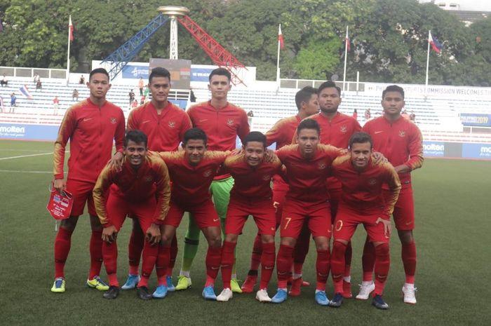 Skuat timnas U-22 Indonesia di SEA Games 2019.
