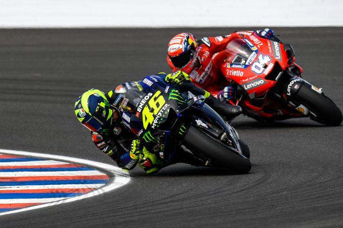 Valentino Rossi dan Andrea Dovizioso bertarung di MotoGP Argentina 2019