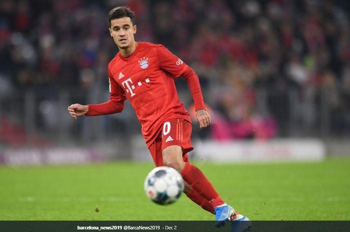 Gelandang serang Barcelona yang tengah dipinjamkan ke Bayern Muenchen, Philippe Coutinho.