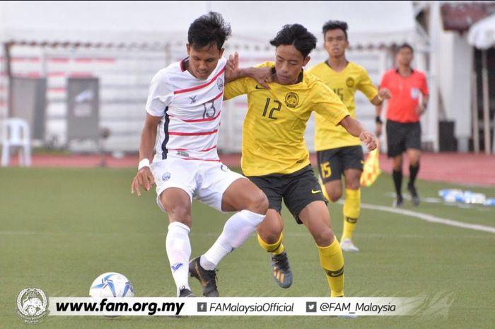 Timnas U-22 Kamboja mengalahkan Malaysia di SEA Games 2019.