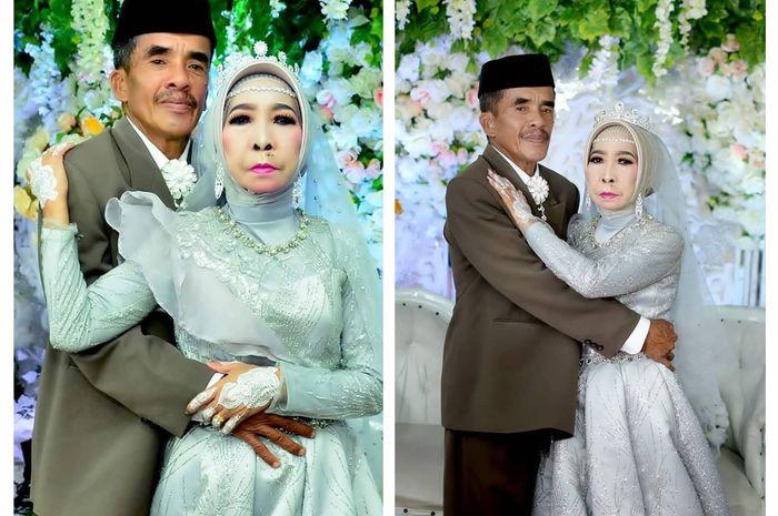 Pernikahan nenek perawan yang viral.