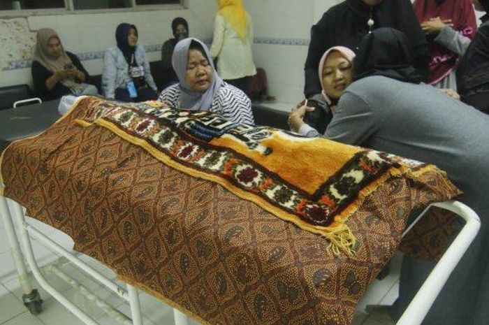 Mayat balita Ahmad Yusuf Ghozali (4) masih di rumah sakit. Mayatnya ditemukan warga di Samarinda Ulu
