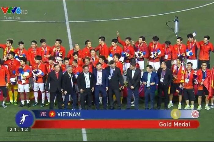 Timnas U-22 Vietnam mendapatkan medali emas SEA Games 2019.