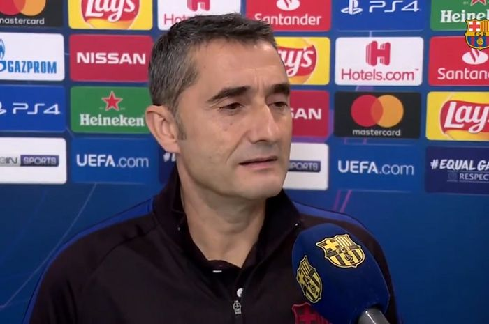Pelatih Barcelona, Ernesto Valverde.
