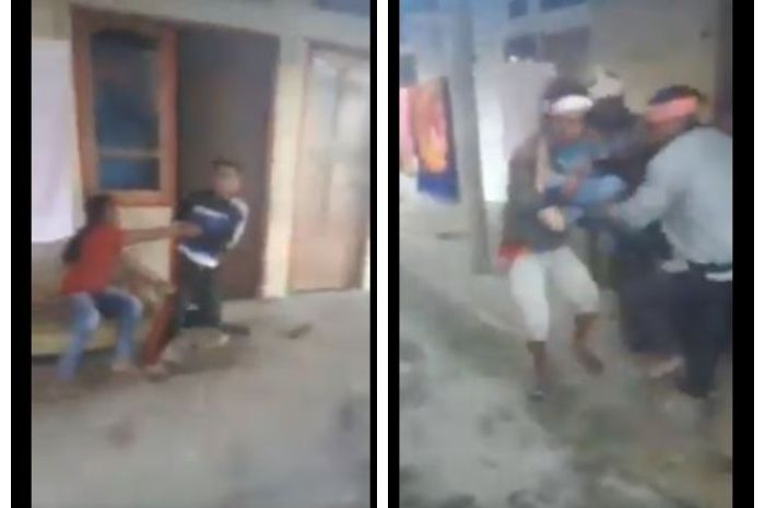 Video viral wanita dipaksa