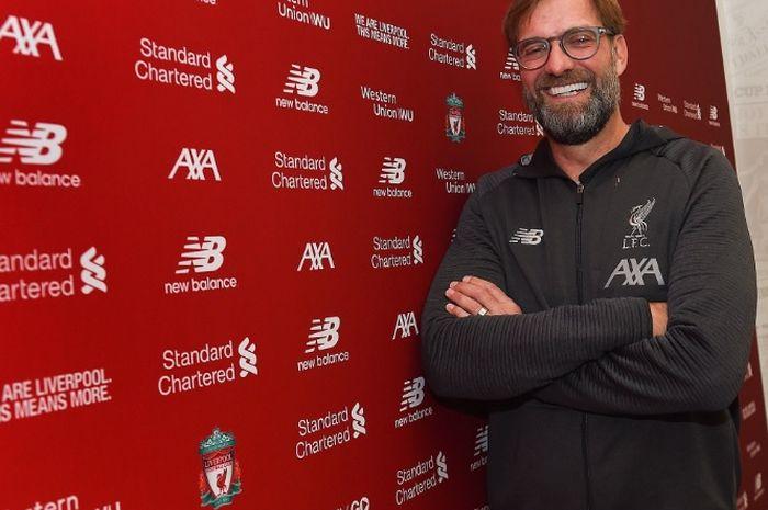 Pelatih Liverpool, Juergen Klopp, resmi menandatangani kontrak baru berdurasi lima tahun.
