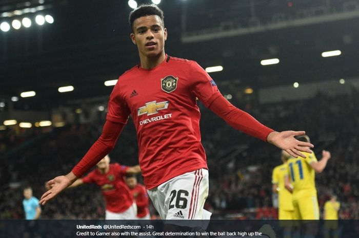 Penyerang muda Manchester United, Mason Greenwood.