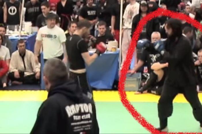 Petarung MMA menghadapi pengguna tinju mabuk.