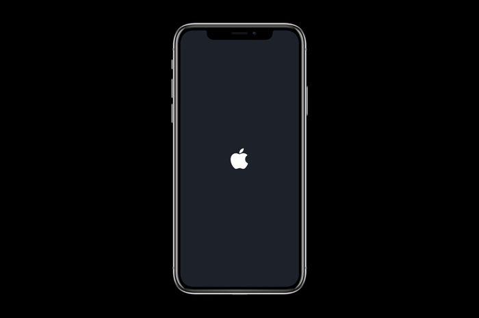 iPhone Stuck di logo Apple