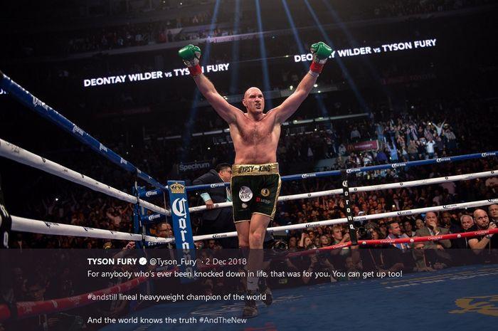 Petinju kelas berat, Tyson Fury.