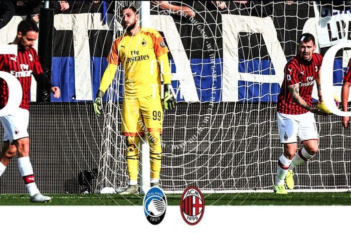 AC Milan digilas Atalanta 0-5 dalam partai Liga Italia di Gewiss Stadium, 22 Desember 2019.