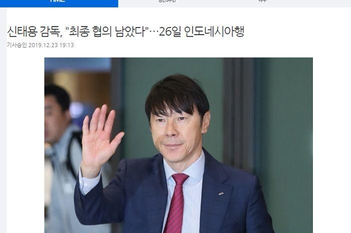 Pemberitaan media Korea Selatan yang masih ragu dengan kabar Shin Tae-yong menjadi pelatih timnas Indonesia.