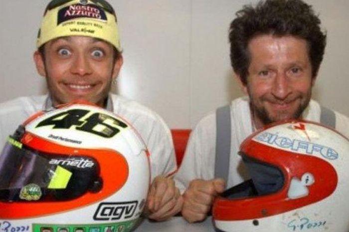 Valentino Rossi dan Graziano Rossi.