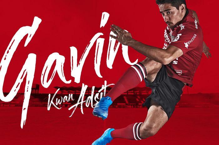 Gavin Kwan Adsit, diumumkan sebagai rekrutan anyar Bali United untuk musim depan.