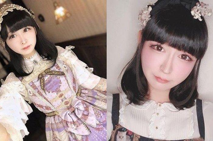 Takuma Tani dalam unggahannya menggunakan kostum cosplayer .