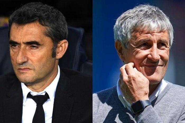 Barcelona resmi pecat Ernesto Valverde dan menunjuk Quique Setien sebagai pelatih baru.