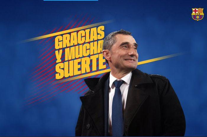 Ernesto Valverde resmi dipecat Barcelona pada Selasa (14/1/2020) dini hari WIB.