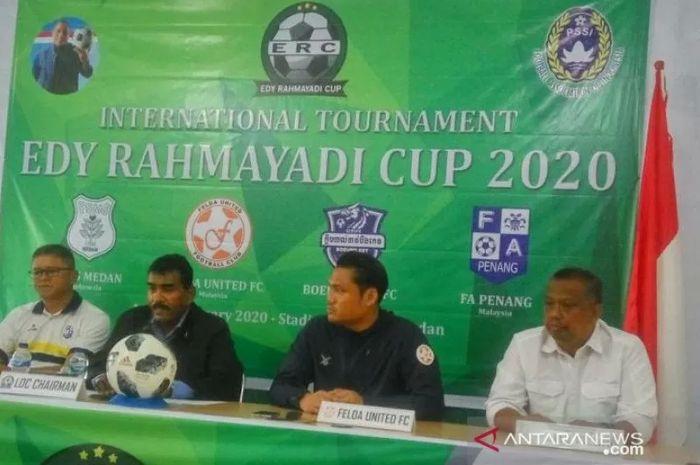 Empat tim akan berlaga di turnamen internasional Edy Rahmayadi Cup 2020 yakni PSMS Medan selaku tuan rumah, Felda United dan Penang FA dari Malaysia serta Boeung Ket dari Kamboja.