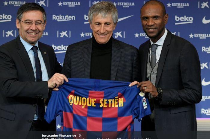 Eks pelatih Real Betis, Setien Quique, resmi didapuk menjadi pelatih anyar Barcelona hingga 2022.