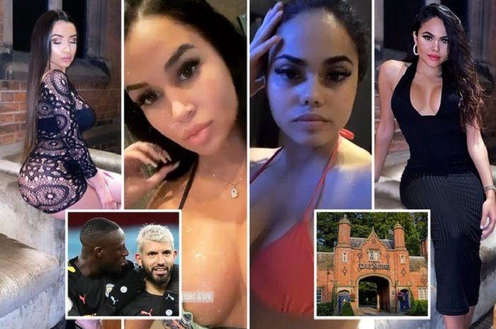 Pemain Manchester City menyewa 22 model untuk pesta di resort mewah di Chesire.