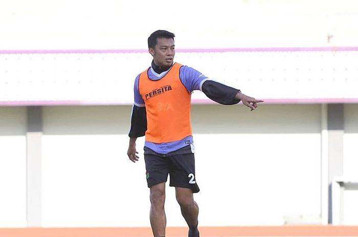 Hamka Hamzah saat mengikuti latihan Persita Tangerang pada 15 Januari 2020.