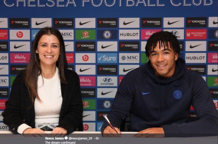 Reece James menandatangani kontrak perpanjangan dengan Chelsea