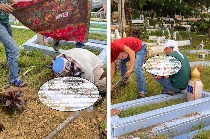 Viral foto-foto pria tak punya tempat kuburkan bayinya