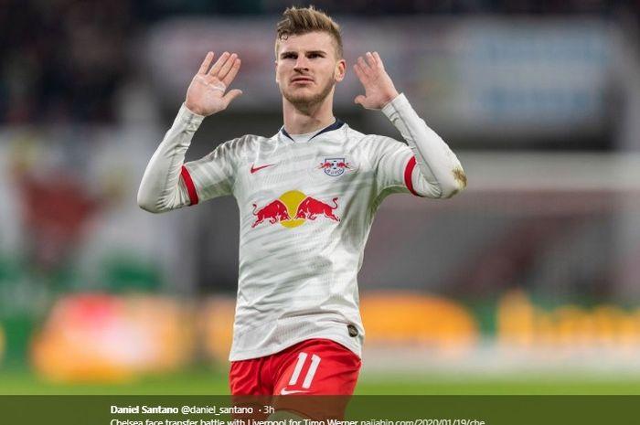 Penyerang RB Leipzig, Timo Werner.