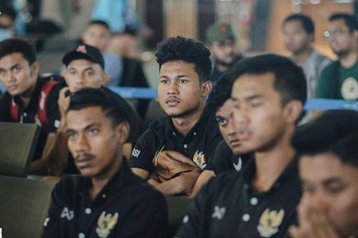 Timnas U-19 Indonesia di Bandara Internasional Soekarno Hatta, Tangerang, Senin (20/1/2020)