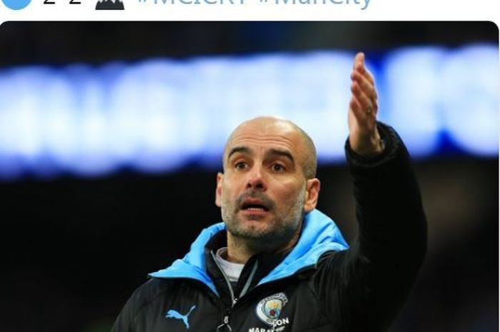 Pelatih Manchester City, Pep Guardiola.