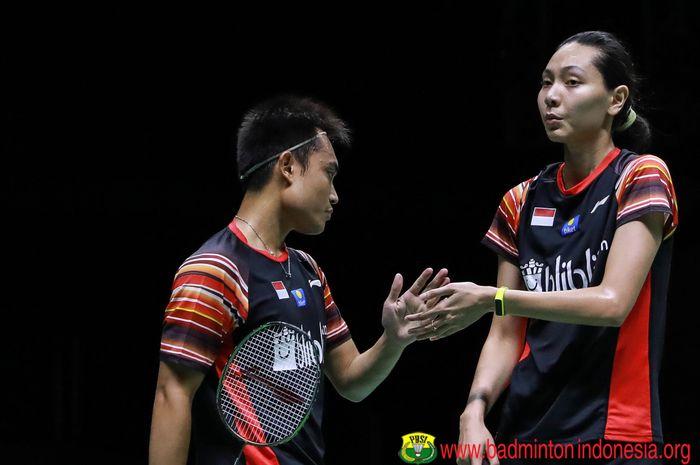 Hafiz Faizal/Gloria Emanuelle Widjaja saat tampil di babak semifinal Thailand Masters 2020, di Indoor Stadium Huamark, Thailand, Sabtu (25/1/2020).