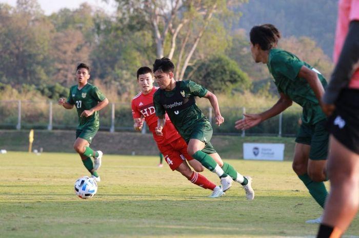 Timnas U-19 Indonesia menjalani pertandingan uji coba di Thailand