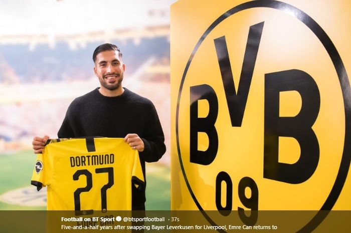 Gelandang tengah Juventus, Emre Can resmi berlabuh ke Borussia Dortmund dengan status pinjaman hingga berakhirnya musim 2019-2020.