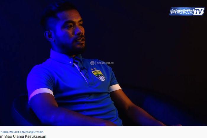 Zulham Zamrun saat wawancara ekslusif dengan Persib Bandung.