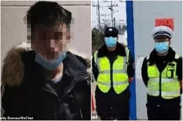 Xiao (25) pemerkosa yang kabur setelah korbannya batuk dan mengaku tertular virus corona dari Wuhan, China.