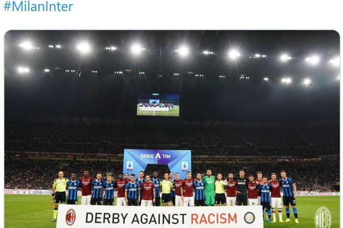 Derby della Madoninna antara AC Milan melawan Inter Milan dalam pertandingan pekan ke-4 Serie A, kasta teratas Liga Italia di Stadion San Siro, Sabtu (21/9/2019) atau Minggu dini hari WIB.